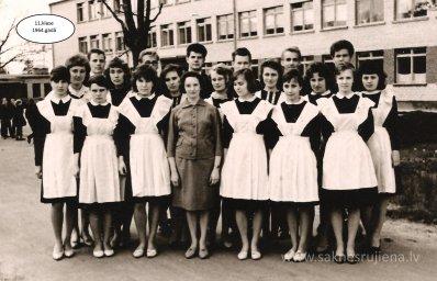 Rūjienas vidusskolas skolēni 1964.gadā - Foto №431