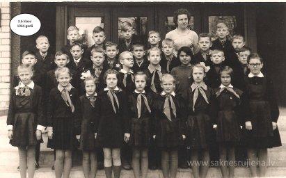 Rūjienas vidusskolas skolēni 1964.gadā - Foto №417