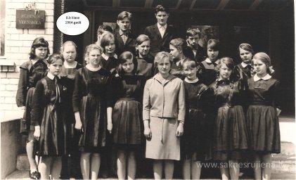 Rūjienas vidusskolas skolēni 1964.gadā - Foto №427